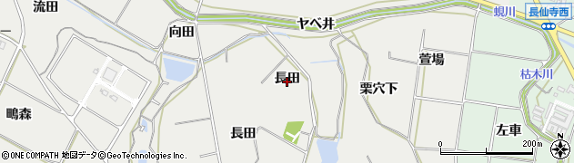 愛知県田原市相川町(長田)周辺の地図