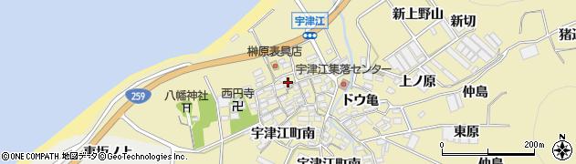 愛知県田原市宇津江町(内荒古)周辺の地図