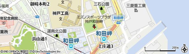 兵庫県神戸市兵庫区上庄通周辺の地図