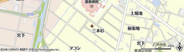 愛知県田原市神戸町(三本杉)周辺の地図