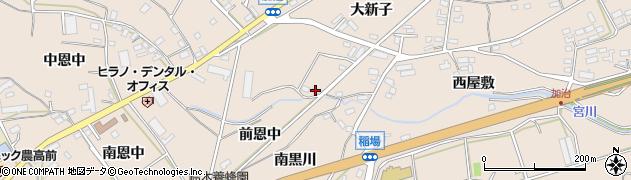 愛知県田原市加治町(前恩中)周辺の地図