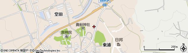 愛知県豊橋市西赤沢町(東浦)周辺の地図