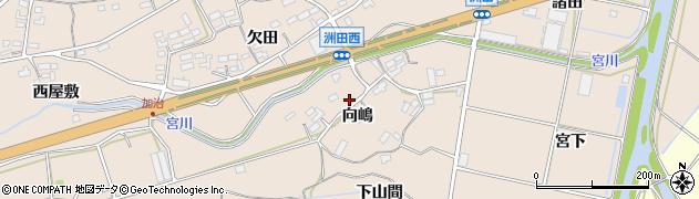 愛知県田原市加治町(向嶋)周辺の地図