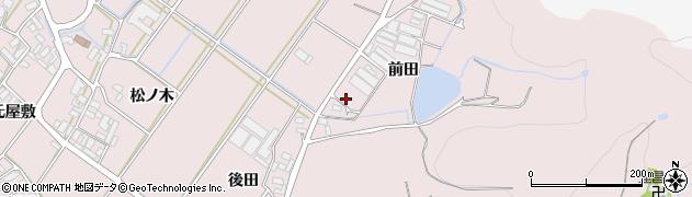愛知県田原市野田町(前田)周辺の地図