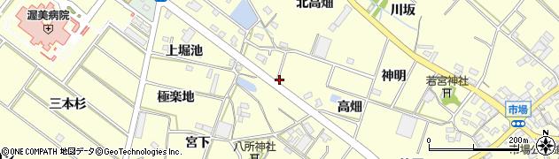 愛知県田原市神戸町周辺の地図