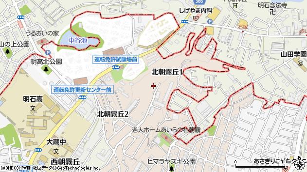 〒673-0857 兵庫県明石市北朝霧丘の地図