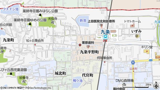 〒639-1002 奈良県大和郡山市九条平野町の地図