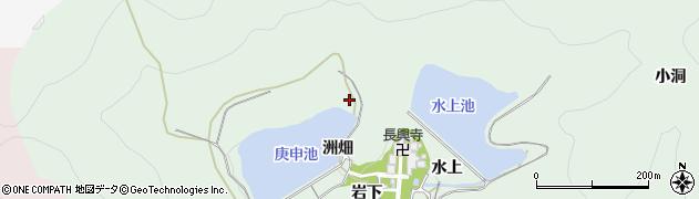 愛知県田原市大久保町(洲畑)周辺の地図