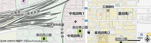 岡山県岡山市北区中島田町周辺の地図