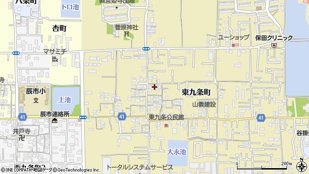 〒630-8144 奈良県奈良市東九条町の地図