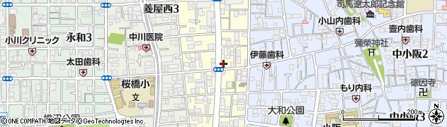 大阪府東大阪市小阪本町2丁目周辺の地図