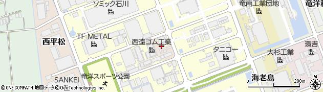 静岡県磐田市南平松周辺の地図