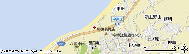 愛知県田原市宇津江町(浜田)周辺の地図