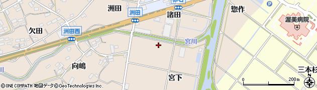 愛知県田原市加治町(宮下)周辺の地図
