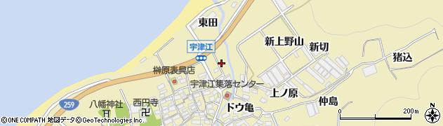 愛知県田原市宇津江町(新前田)周辺の地図