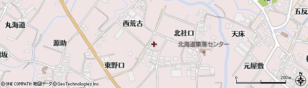 愛知県田原市野田町(西荒古)周辺の地図