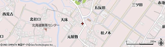 愛知県田原市野田町(元屋敷)周辺の地図