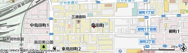 岡山県岡山市北区桑田町周辺の地図