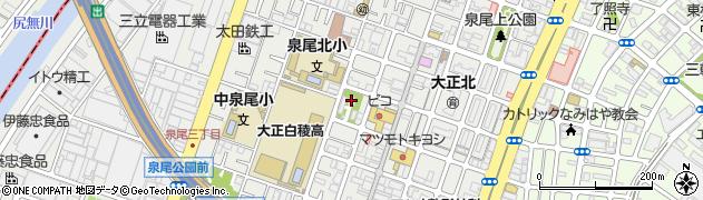 泉尾神社周辺の地図
