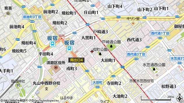 〒654-0023 兵庫県神戸市須磨区戎町の地図