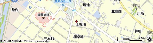 愛知県田原市神戸町(上堀池)周辺の地図