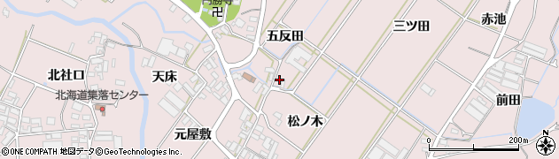 愛知県田原市野田町(五反田)周辺の地図