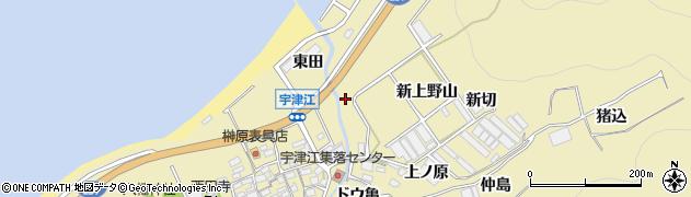 愛知県田原市宇津江町(上野山)周辺の地図