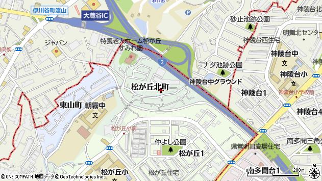 〒673-0861 兵庫県明石市松が丘北町の地図