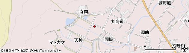 愛知県田原市野田町(天神)周辺の地図