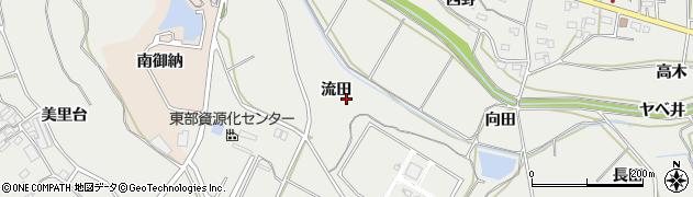 愛知県田原市相川町(流田)周辺の地図