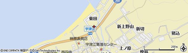 愛知県田原市宇津江町(前田)周辺の地図