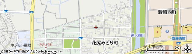 岡山県岡山市北区花尻みどり町周辺の地図
