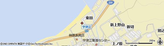 愛知県田原市宇津江町(仲田)周辺の地図