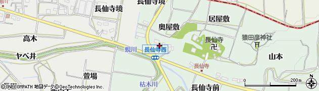 愛知県田原市六連町(奥屋敷)周辺の地図