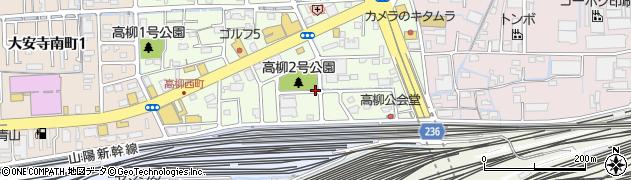 岡山県岡山市北区高柳西町周辺の地図