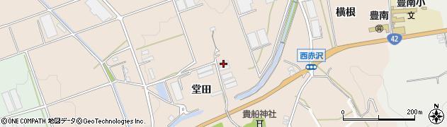 愛知県豊橋市西赤沢町(堂田)周辺の地図