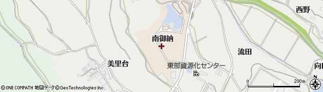 愛知県田原市谷熊町(南御納)周辺の地図