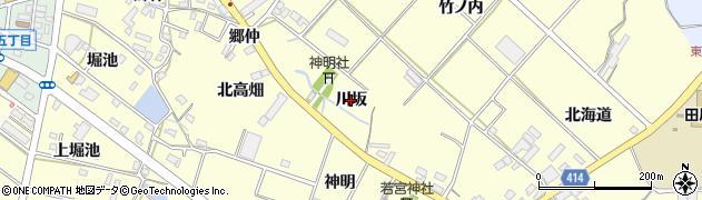 愛知県田原市神戸町(川坂)周辺の地図