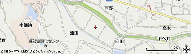 愛知県田原市相川町(向田)周辺の地図