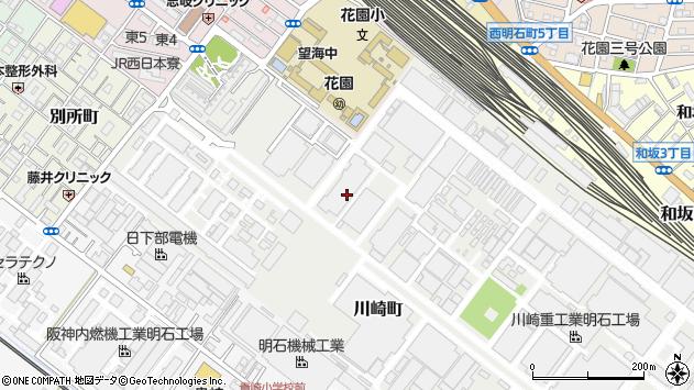 〒673-0014 兵庫県明石市川崎町の地図