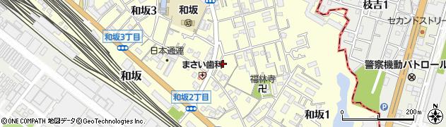 兵庫県明石市和坂周辺の地図