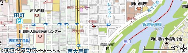 岡山県岡山市北区内山下周辺の地図