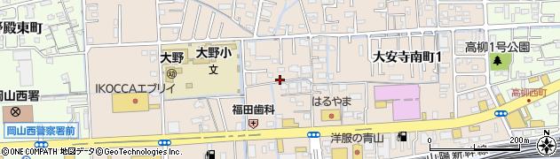 岡山県岡山市北区大安寺南町周辺の地図