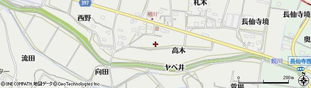 愛知県田原市相川町周辺の地図