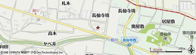 愛知県田原市相川町(長仙寺境)周辺の地図