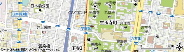 大阪府大阪市天王寺区下寺町周辺の地図