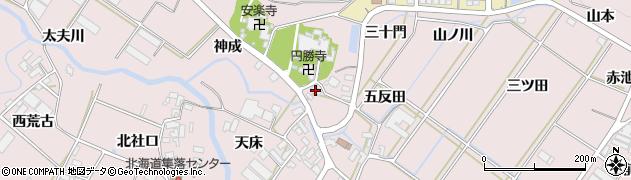 愛知県田原市野田町(神成)周辺の地図
