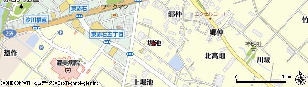愛知県田原市神戸町(堀池)周辺の地図