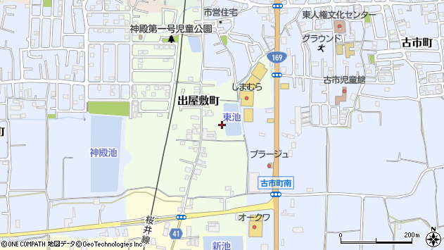 〒630-8423 奈良県奈良市出屋敷町の地図