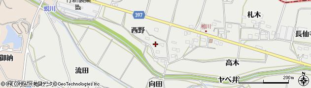 愛知県田原市相川町(西野)周辺の地図
